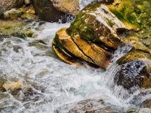 Поток воды горы в Bansko стоковое фото rf