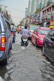 Поток в Бангкок 2012 стоковая фотография rf