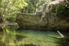 Поток в горе Ида, Турции красивейшая природа Стоковые Изображения
