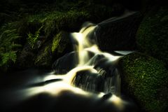 Поток в заповеднике ручейка Wyming стоковое изображение