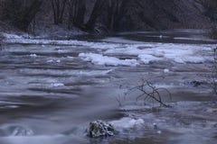 Поток в зиме стоковые фото