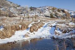 Поток скрещивания дороги ранчо Стоковое Изображение RF