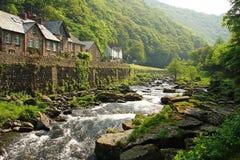 Поток в Lynmouth, Англия Стоковые Фотографии RF