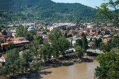 Поток в Maglaj 2014 - Босния и Герцеговина стоковое изображение rf