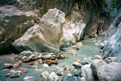 Поток горы в каньоне Стоковое Изображение