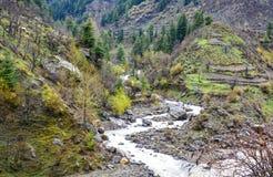 Поток горы в Naran Kaghan Valley, Пакистане Стоковые Фото