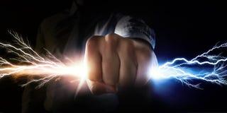 Поток задвижки человека света Стоковое Изображение