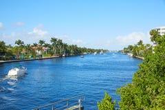 Поток залива Флорида Del Излучать Delray Beach стоковое фото rf
