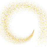 Поток золотых частиц иллюстрация штока
