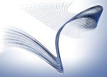 поток информации связи бинарного Кода Стоковая Фотография RF
