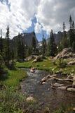 поток национального парка горы утесистый Стоковое Фото