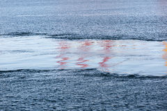 Поток на море Стоковые Изображения