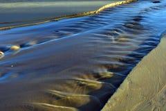 Поток пляжа стоковое фото rf