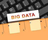 Поток подачи Bigdata большого перевода данных 3d Иллюстрация штока