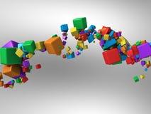 поток покрашенный коробками Стоковое фото RF