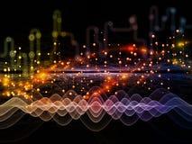 Поток потока информации Стоковые Фото