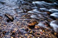 Поток реки горы в горах Северной Каролины стоковое фото
