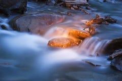 поток реки медленный стоковое изображение rf