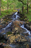 поток рушясь y горы hafod llan Стоковое Фото