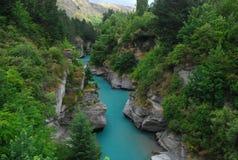 Поток сини реки Shotover Стоковые Фото