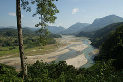 Поток через горы Стоковое фото RF