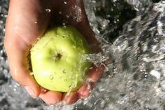 поток яблока Стоковая Фотография