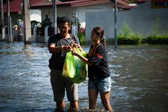 поток 2011 bangkok самый плохой Стоковое фото RF