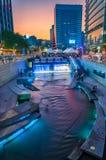 Поток Cheonggyecheon Стоковые Изображения