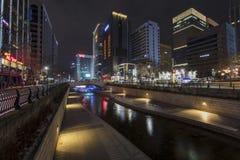 : Поток Cheonggyecheon Стоковая Фотография RF