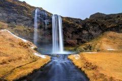 Поток Seljalandsfoss Стоковые Изображения