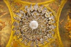 Потолок в дворце Версала Стоковые Фото