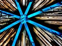 Потолок древесины и металла стоковое изображение