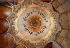 Потолок залы церемонии завихряясь дервишей на Mevlevi Tekke, Каире, Египте Стоковая Фотография RF