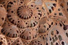 Потолок музыкальной комнаты в дворце Али Qapu, Esfahan, Иране Стоковые Фотографии RF