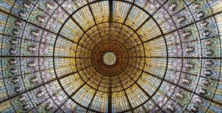 Потолок на Палау de Ла musica стоковое фото rf