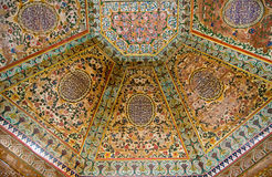 потолок покрасил деревянной Стоковое Изображение RF
