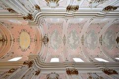 Потолок собора предположения, Kalocsa, Венгрия Стоковое фото RF