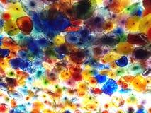 Потолок цветка выдувного стекла руки на гостинице Bellagio стоковая фотография rf
