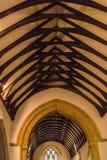 Потолок церков ` s St Peter, верхний убой стоковые фотографии rf