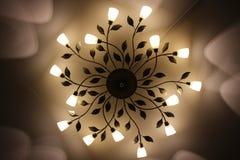 Потолочная лампа Потолочная лампа света СИД Крытая молния оформления дома Стоковые Фото