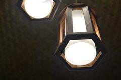 Потолочное освещение на живущей комнате стоковое фото rf