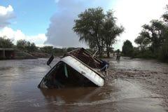 Потопленная автомобильная катастрофа стоковое фото