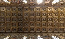 Потолок базилики le Мураы fuori San Paolo Стоковые Изображения