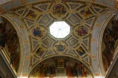 Потолок библиотеки & музея Моргана стоковые фото