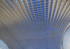 Потолок вокзала в Liège-Guillemins Стоковые Фото
