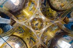 Потолок в церков Martorana Италия palermo Сицилия стоковые изображения