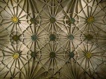 Потолок монастыря монастыря Jeronimos, Belem, Лиссабона, Португалии Стоковые Фотографии RF