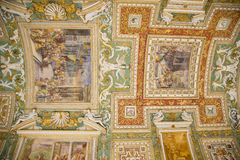 Потолок музея Ватикана, Рим Стоковые Фото
