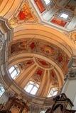 Потолок на соборе Зальцбурга (Dom Salzburger) стоковые изображения rf