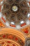 Потолок на соборе Зальцбурга (Dom Salzburger) Стоковая Фотография RF